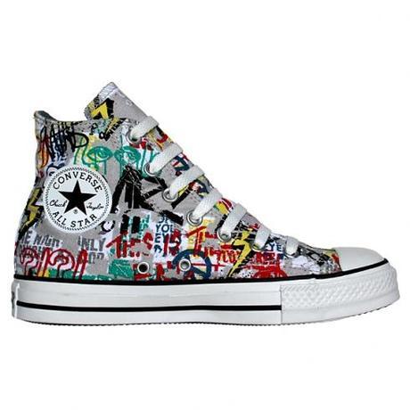 Converse Chucks All Star 108574 Poster Grafitti Grau Sondermodell 2009