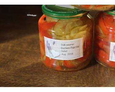 Süß-saurer Gurken-Paprika-Salat