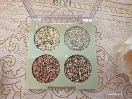 Swatches zu den Glitter-y Eye Quads