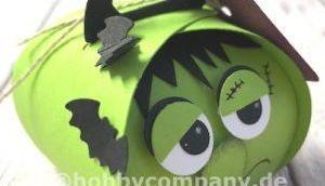 Halloween Verpackung basteln Mini-Zierschachtel