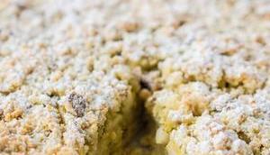 Apfelkuchen Pistazien Pekannuss-Streusel