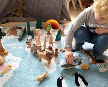 Einmal und die Welt - Unser Bio Kinderteppich von Hans Natur