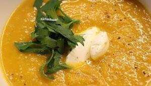 Butternut-Kürbissuppe Chili Ingwer