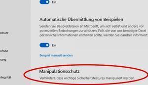 Manipulationsschutz Microsoft Defender