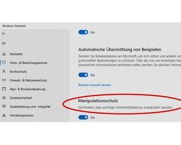 Manipulationsschutz für Microsoft Defender