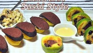 Blutwurst Sushi Style