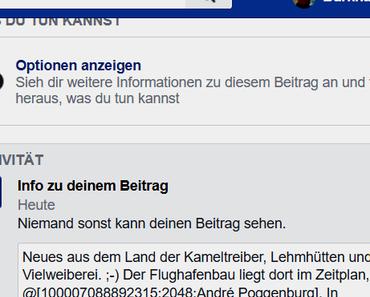 Neues von Faschobook (alias Facebook)