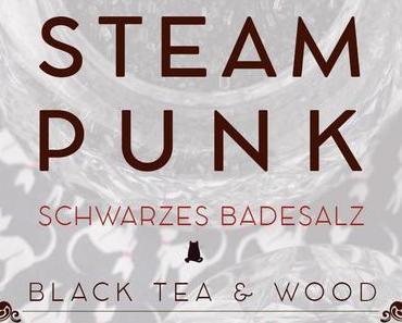Schwarzes Badesalz »Steampunk« gegen Novemberblues