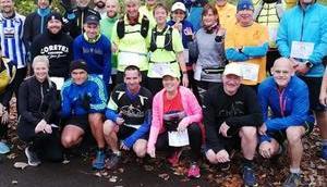 Wuhlheide Veteranen-Marathon Halbmarathon. läuft's Pionierpark