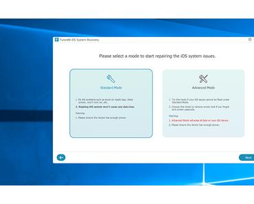 TunesKit: iOS/tvOS-Systemwiederherstellung bei kleinen und großen Notfällen