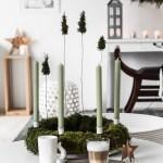 DIY Adventskranz mit Moos und Tannenbäumen