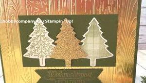 Weihnachtskarte basteln Prägung