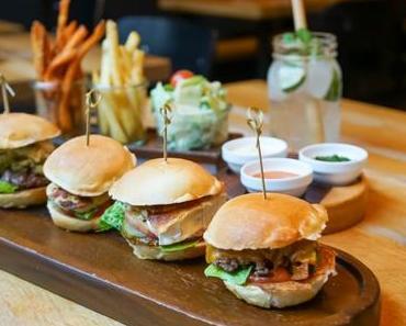 DER KLEINE FLO – Mini-Burger in 27 verschiedenen Sorten - + + + Burger im Tapas-Style genießen ++ auch für Veganer und Veggis + + +