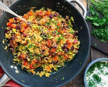 Couscous-Gemüse mit Kürbis und Rote Bete