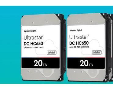Western Digital liefert 20 TB-Festplatten aus