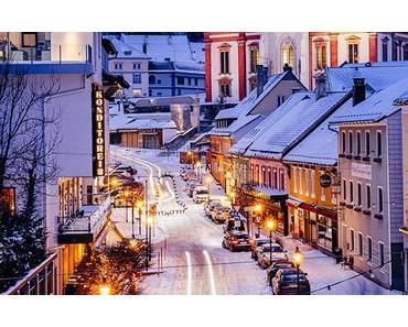 Romantisches Mariazell mit Schnee