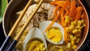 Ramen Nudelsuppe selber machen geht schnell echt lecker #Rezept #Food #Asiatisch