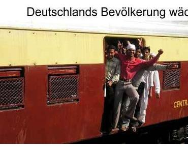 Deutschlands Einwohnerzahl steigt, doch leider nur mit Sozialhilfeempfängern