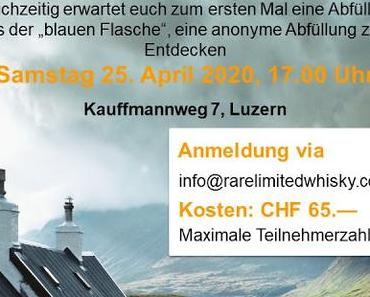 "Save-the-dates: ""The Millenials Whisky Tasting"" und ""Whisky-Dinner"" in Luzern"