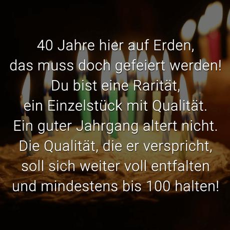Spruche Zum 40 Geburtstag Die Besten Schonsten Spruche