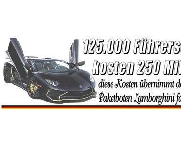 125.000 Führerscheine kosten 250 Millionen Euro, diese Kosten übernimmt der Staat jährlich…