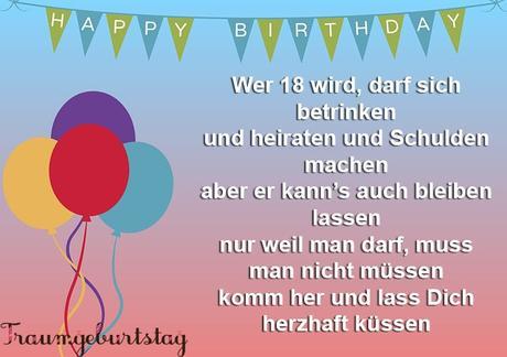 Geburtstag kartensprüche 18 Geburtstagswünsche Lustig