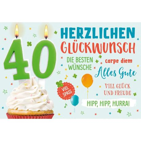 Glückwünsche Zum 40.Geburtstag