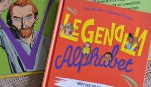 Legenden Alphabet berühmten Persönlichkeiten