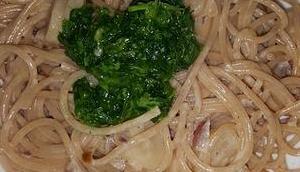 Spaghetti Schwarzwurzeln Petersilienöl