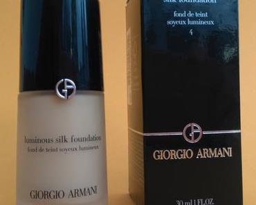 [Werbung] Giorgio Armani Luminous Silk Foundation 4
