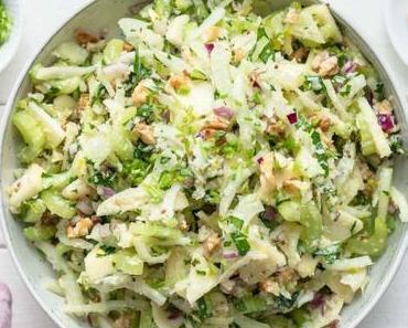 Sellerie Salat mit Apfel und Fenchel