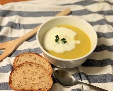 Topinambur-Suppe mit Rüebli und Lauch
