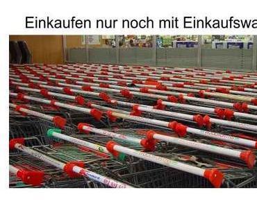 Die Disziplin in den Supermärkten ist bei den Deutschen gut…