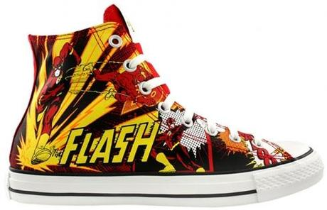 Converse All Star Chucks - Flash DC Comics - Blitzmann / Roter Blitz limited Edition / Sondermodell