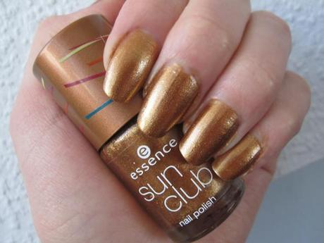 NOTD: essence BLONDI BEACH limited edition nailpolish – 05 BBC golden sands