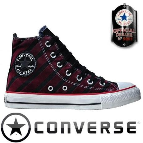 Converse Chuck Taylor All Star Chucks 113915 Rot Schwarz Stripes Gestreift HI