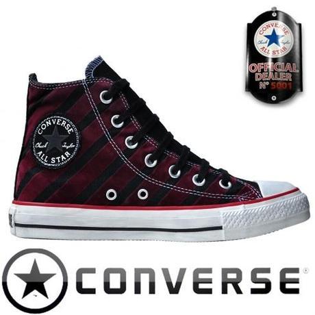 Converse Chuck Taylor All Star Chucks 113915 Rot Schwarz Stripes Gestreift HI