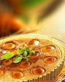 Aprikosen-Käsekuchen mit Stevia gebacken