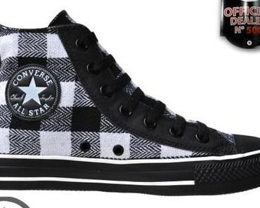 #Converse Chuck Taylor All Star #Chucks 517484 Schwarz Weiß Black White Plaid Kariert HI