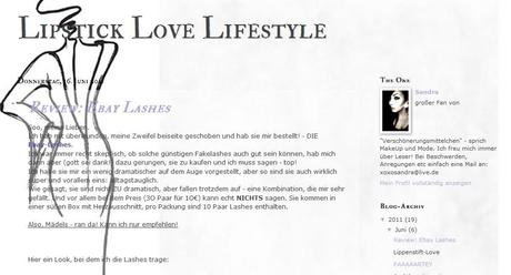 Blogvorstellung: Lipstick Love Lifestyle