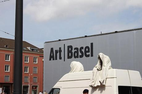 The ghost car ride by Manfred Kielnhofer on the trip to the contemporary art fairs Basel, ArtBasel, Liste, Scope, Volta, …