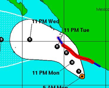 Tropischer Sturm / Hurrikan BEATRIZ bedroht mexikanische Pazifikküste