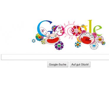 Takashi Murakami designt Google-doodle