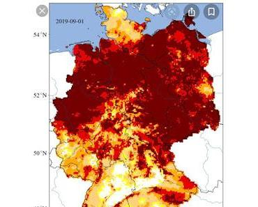 Dürre und Windraddichte