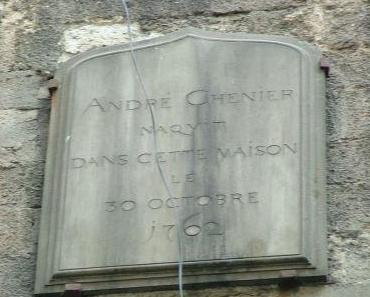 André Chéniers Geburthaus