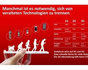 Vodafone beginnt mit der UMTS-Abschaltung