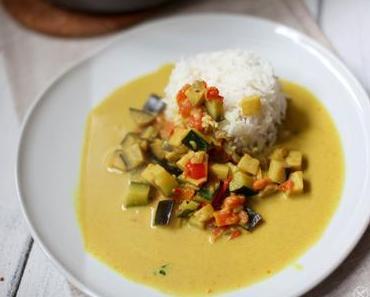 Veganes Gemüse – Curry Indische Art mit Reis