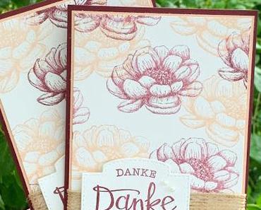 Blumenkarte als Dankeschön