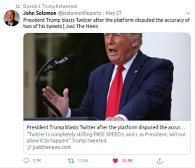 FakeNews & Faktencheck | Twitter labeled two of Trump's tweets