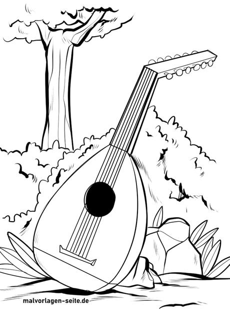 malvorlage laut  musikinstrumente